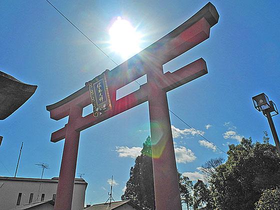 松尾一の鳥居と太陽