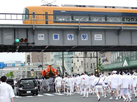 東寺駅付近