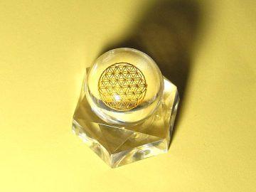 フラワーオブライフ水晶玉