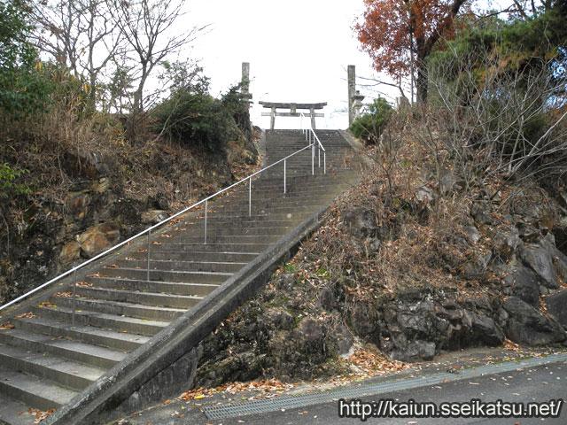 神の神社石段