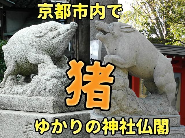 京都で猪ゆかりの神社仏閣